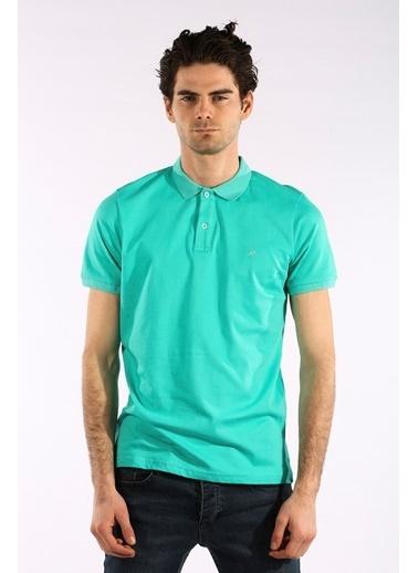 Rodrigo Erkek Petrol Düz Polo Yaka T-shirt Yeşil
